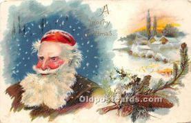 hol017147 - Santa Claus Postcard Old Vintage Christmas Post Card