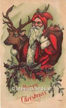 hol017150 - Santa Claus Postcard Old Vintage Christmas Post Card