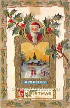 hol017152 - Santa Claus Postcard Old Vintage Christmas Post Card