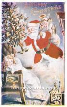 hol017153 - Santa Claus Postcard Old Vintage Christmas Post Card