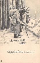 hol017155 - Santa Claus Postcard Old Vintage Christmas Post Card