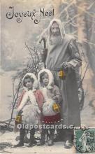 hol017159 - Santa Claus Postcard Old Vintage Christmas Post Card