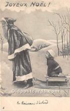 hol017160 - Santa Claus Postcard Old Vintage Christmas Post Card