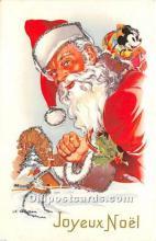 hol017161 - Santa Claus Postcard Old Vintage Christmas Post Card