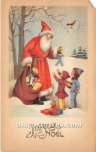 hol017166 - Santa Claus Postcard Old Vintage Christmas Post Card