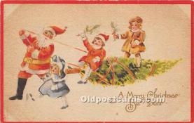 hol017167 - Santa Claus Postcard Old Vintage Christmas Post Card