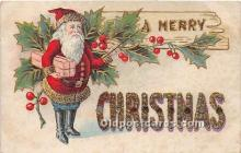hol017168 - Santa Claus Postcard Old Vintage Christmas Post Card