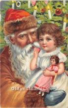 hol017170 - Santa Claus Postcard Old Vintage Christmas Post Card