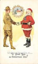 hol017174 - Santa Claus Postcard Old Vintage Christmas Post Card