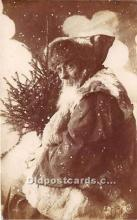 hol017176 - Santa Claus Postcard Old Vintage Christmas Post Card