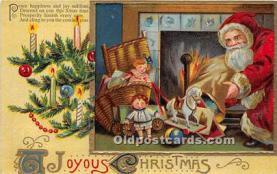 hol017177 - Santa Claus Postcard Old Vintage Christmas Post Card