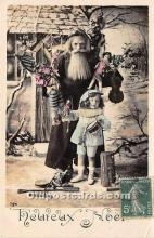 hol017179 - Santa Claus Postcard Old Vintage Christmas Post Card