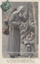 hol017180 - Santa Claus Postcard Old Vintage Christmas Post Card