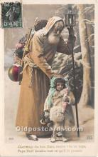 hol017181 - Santa Claus Postcard Old Vintage Christmas Post Card