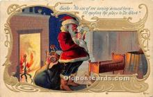hol017185 - Santa Claus Postcard Old Vintage Christmas Post Card