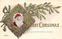 hol017188 - Santa Claus Postcard Old Vintage Christmas Post Card