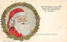 hol017189 - Santa Claus Postcard Old Vintage Christmas Post Card