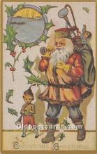 hol017190 - Santa Claus Postcard Old Vintage Christmas Post Card