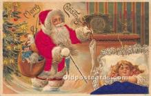 hol017194 - Santa Claus Postcard Old Vintage Christmas Post Card