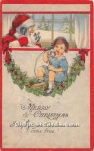 hol017195 - Santa Claus Postcard Old Vintage Christmas Post Card