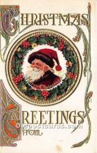 hol017196 - Santa Claus Postcard Old Vintage Christmas Post Card
