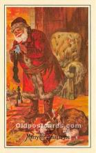 hol017202 - Santa Claus Postcard Old Vintage Christmas Post Card
