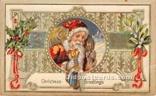 hol017203 - Santa Claus Postcard Old Vintage Christmas Post Card