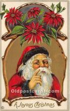 hol017204 - Santa Claus Postcard Old Vintage Christmas Post Card