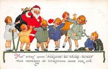 hol017205 - Santa Claus Postcard Old Vintage Christmas Post Card