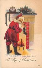 hol017211 - Santa Claus Postcard Old Vintage Christmas Post Card