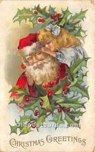 hol017212 - Santa Claus Postcard Old Vintage Christmas Post Card