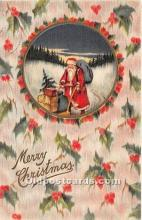 hol017219 - Santa Claus Postcard Old Vintage Christmas Post Card