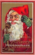 hol017220 - Santa Claus Postcard Old Vintage Christmas Post Card
