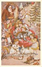 hol017222 - Santa Claus Postcard Old Vintage Christmas Post Card
