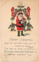 hol017230 - Santa Claus Postcard Old Vintage Christmas Post Card
