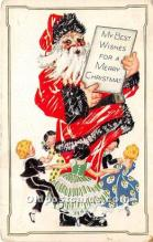 hol017235 - Santa Claus Postcard Old Vintage Christmas Post Card