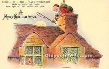 hol017236 - Santa Claus Postcard Old Vintage Christmas Post Card