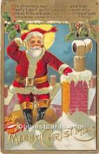 hol017239 - Santa Claus Postcard Old Vintage Christmas Post Card