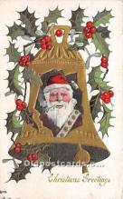 hol017241 - Santa Claus Postcard Old Vintage Christmas Post Card