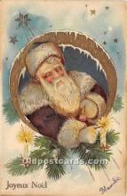 hol017243 - Santa Claus Postcard Old Vintage Christmas Post Card