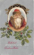 hol017244 - Santa Claus Postcard Old Vintage Christmas Post Card