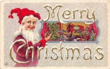 hol017246 - Santa Claus Postcard Old Vintage Christmas Post Card