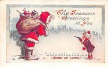 hol017247 - Santa Claus Postcard Old Vintage Christmas Post Card