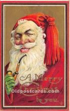 hol017249 - Santa Claus Postcard Old Vintage Christmas Post Card