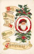 hol017251 - Santa Claus Postcard Old Vintage Christmas Post Card