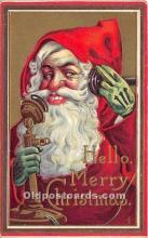 hol017253 - Santa Claus Postcard Old Vintage Christmas Post Card