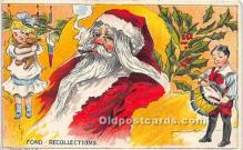 hol017254 - Santa Claus Postcard Old Vintage Christmas Post Card