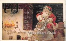 hol017255 - Santa Claus Postcard Old Vintage Christmas Post Card