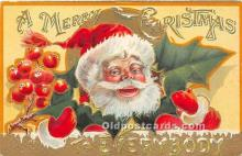 hol017257 - Santa Claus Postcard Old Vintage Christmas Post Card