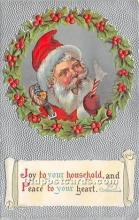 hol017258 - Santa Claus Postcard Old Vintage Christmas Post Card